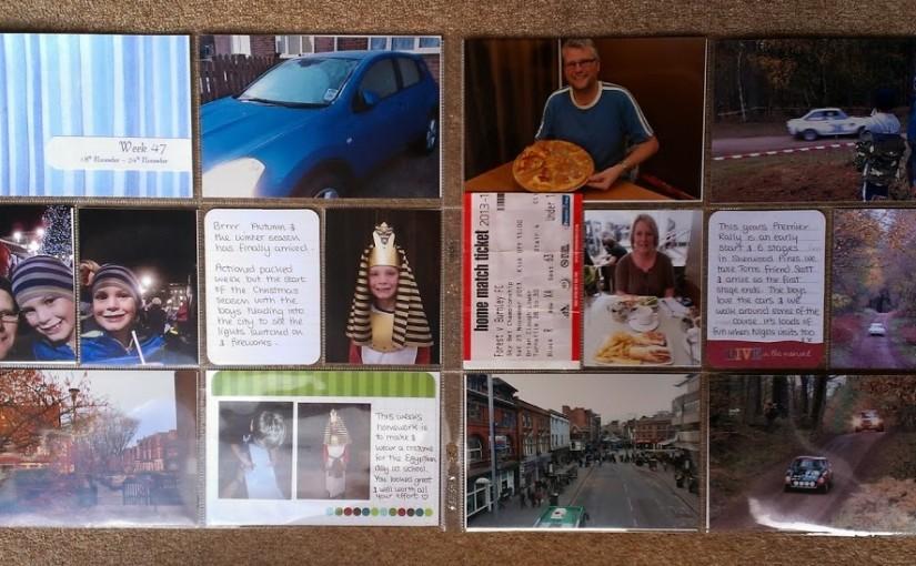 Project Life 2013: Week 47 & Week 48